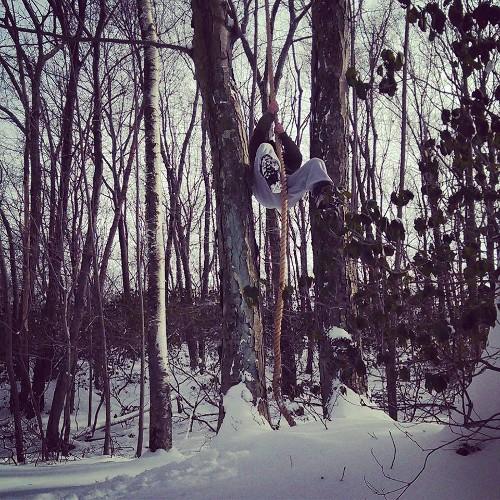 Winter rope climbing